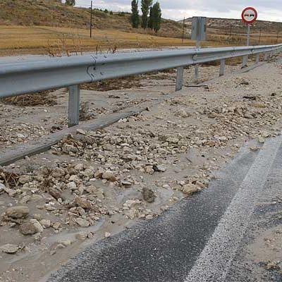 """La Junta declara """"de emergencia""""  la reparación de la carretera CL-602 tras los daños ocasionados por la tormenta"""