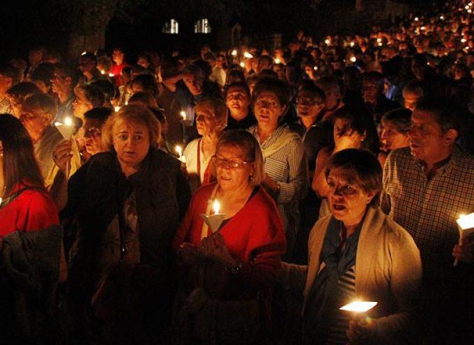 El Rosario de Antorchas precederá hoy a la Romería de la Virgen de El Henar