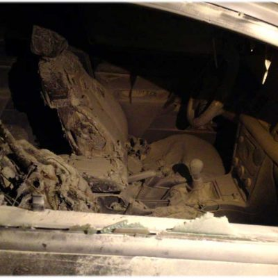 Un problema familiar desemboca en el incendio del interior de un vehículo en Cuéllar
