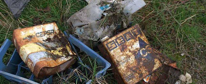 Los vecinos de Mata de Cuéllar liberaron su entorno de 186 kilos de basura