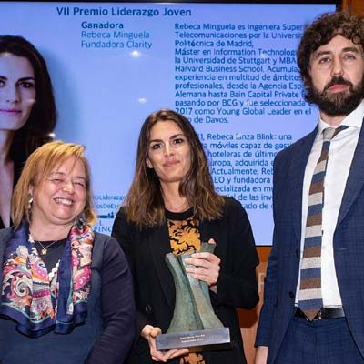 La cuellarana Rebeca Minguela recibe el VII Premio Liderazgo Joven de la Fundación Rafael del Pino