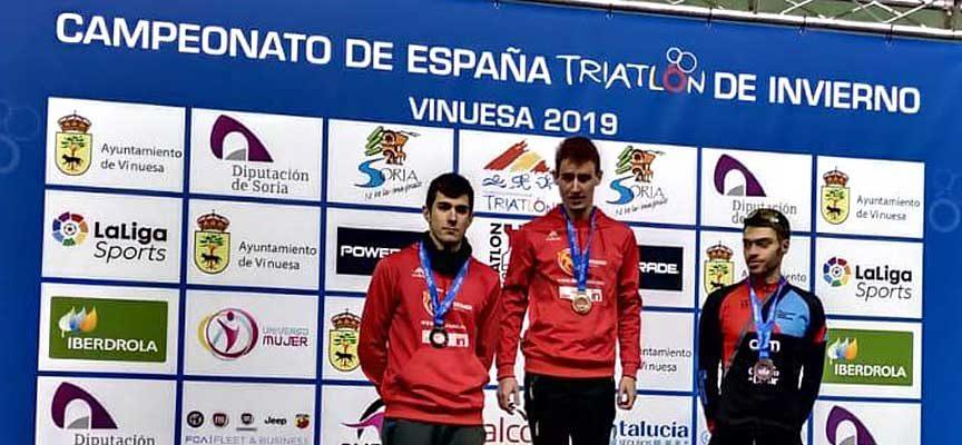 El cuellarano Hugo Ramos se proclamó subcampeón de España junior en el Campeonato de Triatlón de Invierno