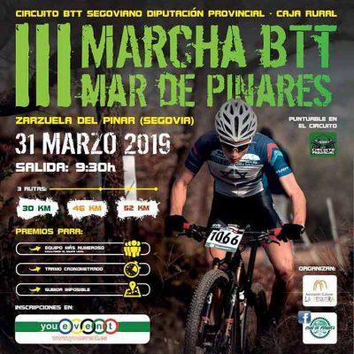 Doscientos corredores tomarán salida el domingo en la III Marcha BTT Mar de Pinares