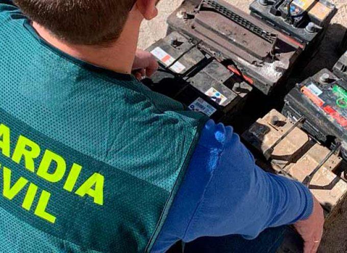 La guardia Civil investiga a dos jóvenes por el hurto de baterías en Villaverde de Íscar