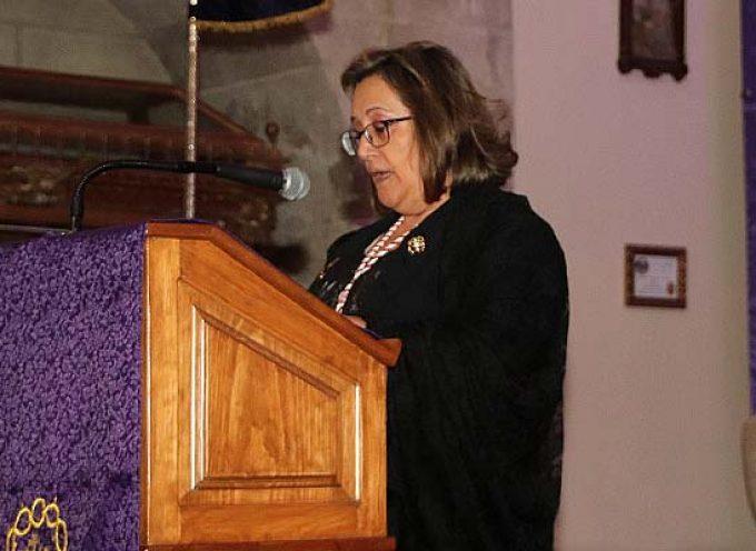 Mª Carmen Gómez pronunció el pregón Nazareno que dió paso al Encuentro Nacional de Bandas de Cofradías