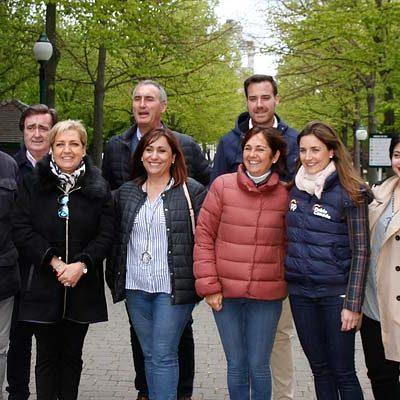 Los candidatos populares cierran en Cuéllar su campaña en la provincia
