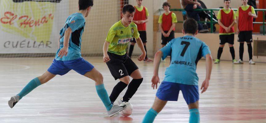 El FS Cuéllar juvenil solo consigue un punto en Guijuelo por falta de puntería