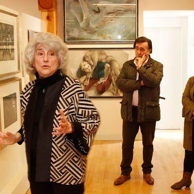 La exposición de la artista Margarita Pamies clausura con éxito en Cuéllar