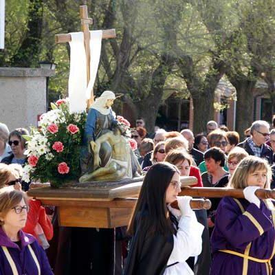 La Virgen de la Compasión abrió las procesiones en Cuéllar