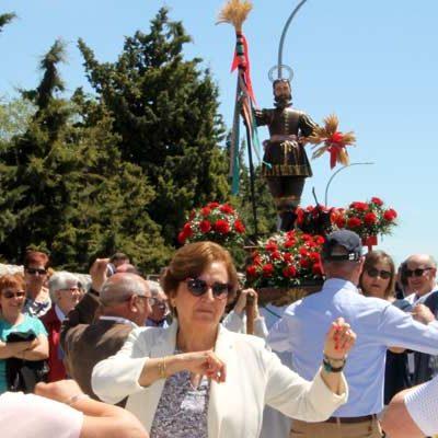 San Isidro bencide las cosechas de los campos cuellaranos