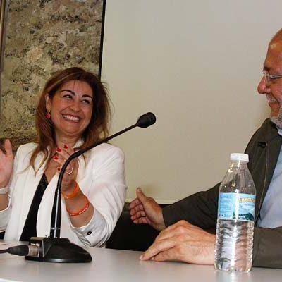 Francisco Igea respaldó a la cuellarana Marta Sanz en la presentación de su candidatura a las Cortes