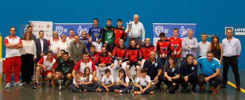 La selección de Castilla y León se proclama en Vallelado subcampeona de la Copa del Rey de Pelota, por detrás de Navarra