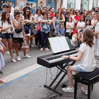 Tarde musical en las calles de Cuéllar