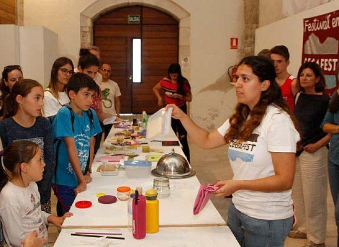 Almudena Pascual ofreció en Cegafest alternativas para reducir los resíduos de la vida cotidiana