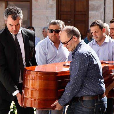Cuéllar da su último adiós al exalcalde Mariano Molinero