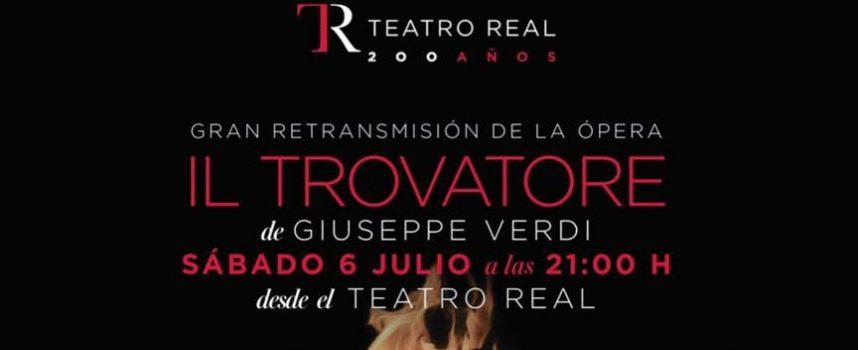 La sala Alfonsa de la Torre acoge la retransmisión de la ópera `Il Trovatore´ desde el Teatro Real