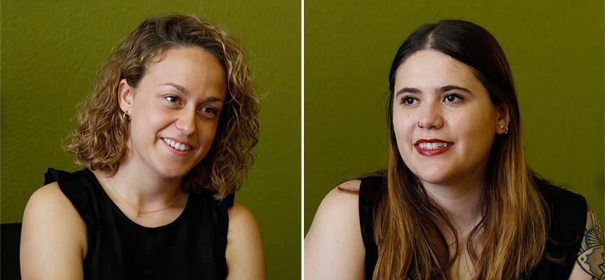 Lucía Díez (izq) y Sara Pesquera (drcha.), damas de las Fiestas de Cuéllar 2019