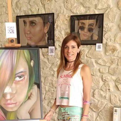 Laura Serrano acerca la muestra `Cara a cara´ al Museo de la Piedra de Campaspero
