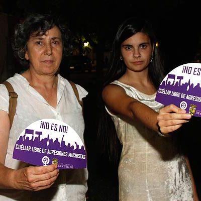 El Colectivo Feminista 8M satisfecho con la campaña `Cuéllar libre de agresiones machistas´
