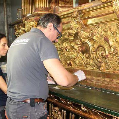 El Santuario de El Henar restaura el retablo de la Virgen del Carmen