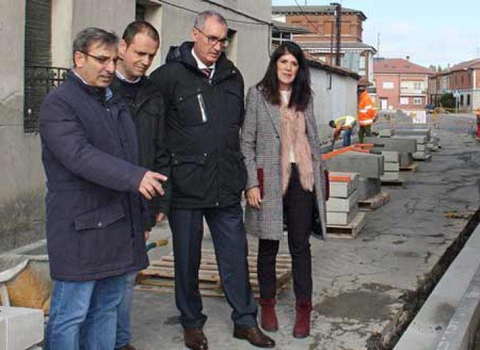 La Junta inicia las obras de acondicionamiento en la travesía de Sanchonuño