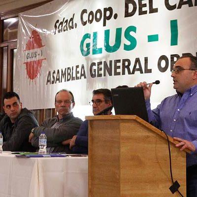 Cooperativa Glus cierra el ejercicio con un incremento de un 25,8% en su facturación