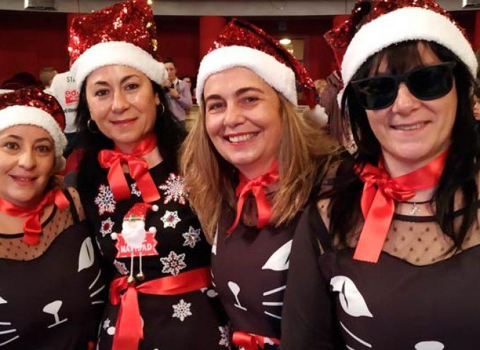 Cuatro cuellaranas viven en directo el sorteo de la lotería de Navidad