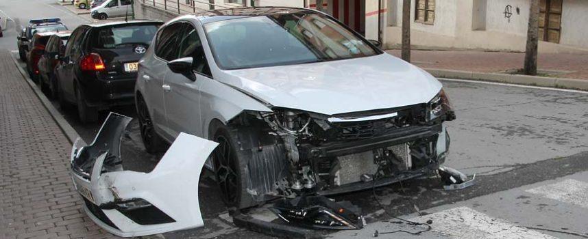 La colisión entre vehículos fue el motivo de 26 de los 36 accidentes registrados en Cuéllar en 2019