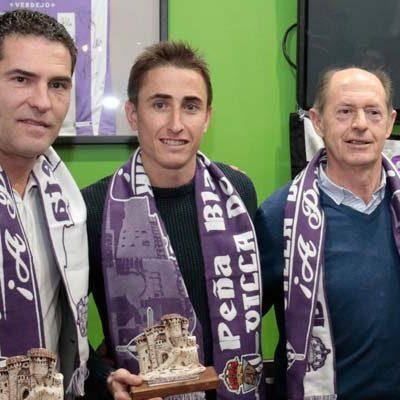 De Frutos, Minguela, Asier y César Esteban, socios de honor de la Peña `Villa de Cuéllar´