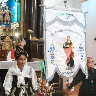 Pasacalles, misa y procesión para celebrar Santa Águeda en Navalmanzano