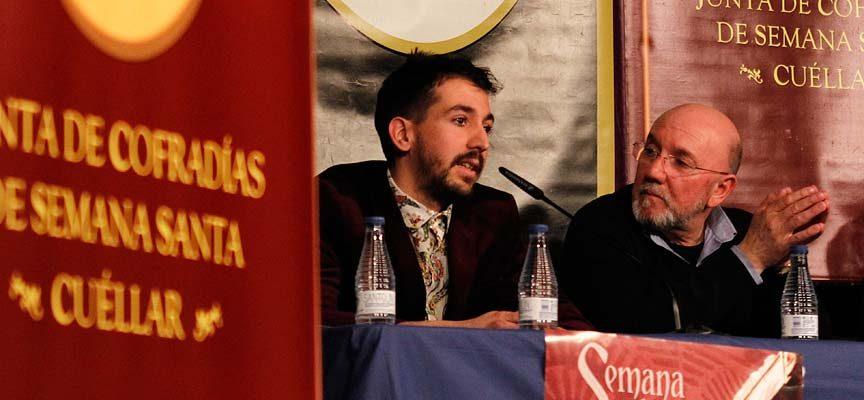 Sergio Caminero (izquierda) junto al párroco Fernando Mateo