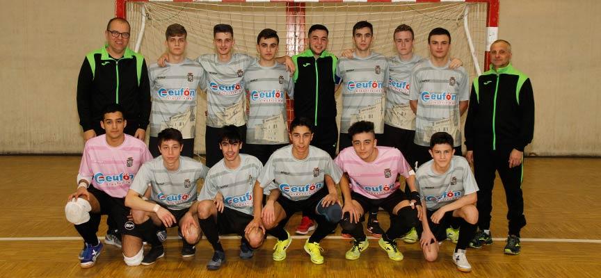 Plantilla del FS Cuéllar juvenil en la temporada 2019/20