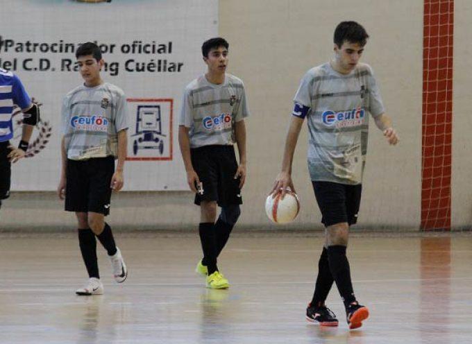 El FS Cuéllar juvenil pierde por 5-0 ante el colista