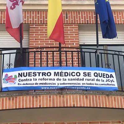 El Ayuntamiento de Gomezserracín se suma a la campaña `nuestro médico se queda´