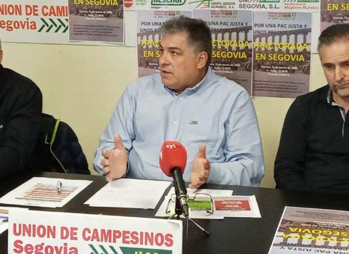 Unión de Campesinos convoca una tractorada en Segovia el viernes 13 de marzo