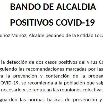 Un bando de Alcaldía confirma dos casos de coronavirus en Chatún