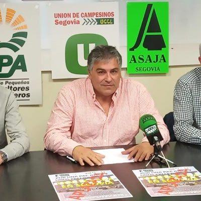 UCCL-Segovia, Asaja y UPA aplazan la tractorada prevista para el viernes en Segovia