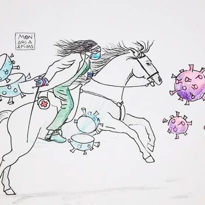 Alfonso y Carmen Rey dan forma y color a la lucha contra el coronavirus