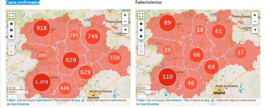 Las altas hospitalarias por la COVID-19 en Segovia superan  en un 151% a los nuevos casos