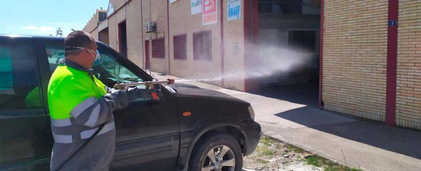 La Comunidad de Villa y Tierra colabora con la desinfección de los espacios de mayor concurrencia de sus municipios