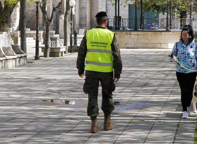 El ejército realiza labores de concienciación y seguridad en las calles de Cuéllar y en los pueblos del entorno