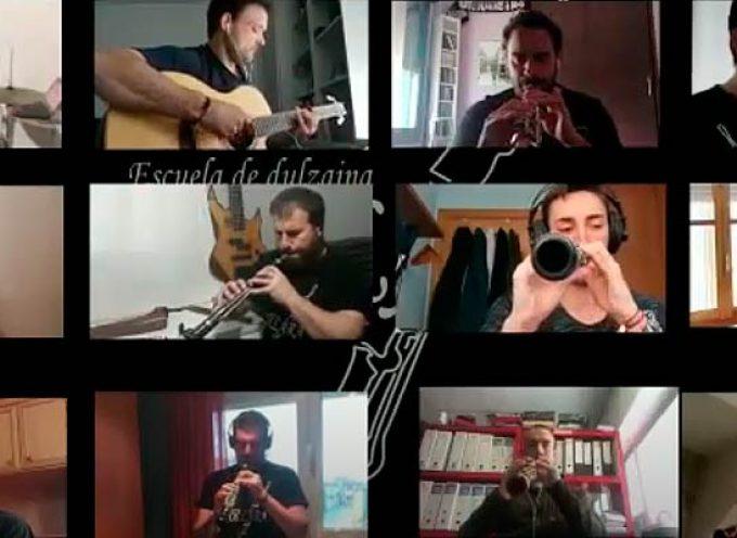 La banda de la Escuela de Dulzaina Collara interpreta `Caballo viejo´ desde el confinamiento
