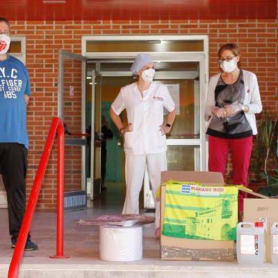 FS Cuéllar y Peña El Pañuelo donan material de protección a las residencias de ancianos y al Centro de Salud de Cuéllar