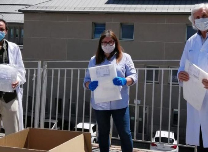 Atletismo Cuéllar y Racing Cuéllar donan material de protección al Hospital General de Segovia