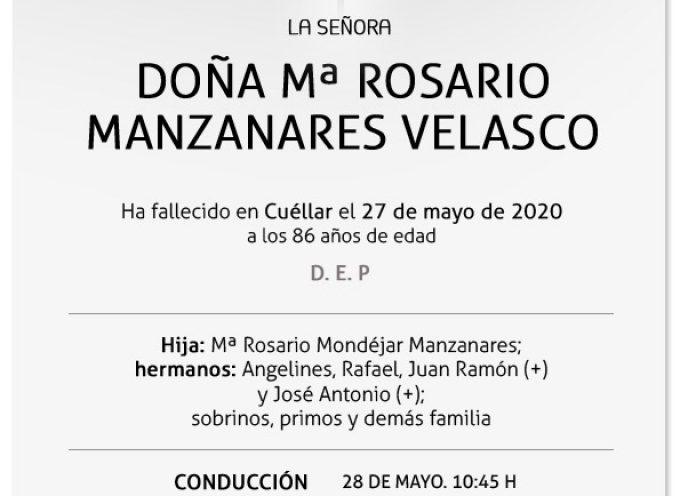 Mª Rosario Manzanares Velasco