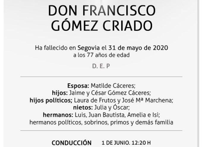 Francisco Gómez Criado