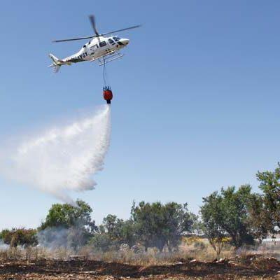 Arden ocho hectáreas de cereal en el paraje cuellarano de La Florida