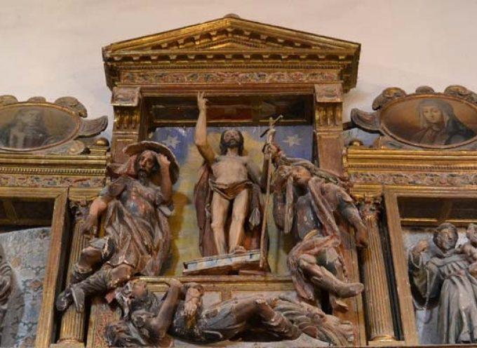 La Junta restaura el retablo `de los judíos´ de la iglesia de Fuente el Olmo de Fuentidueña