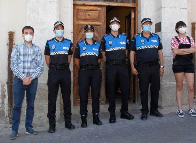 Tres nuevos agentes en prácticas refuerzan la plantilla de la Policía Local de Cuéllar