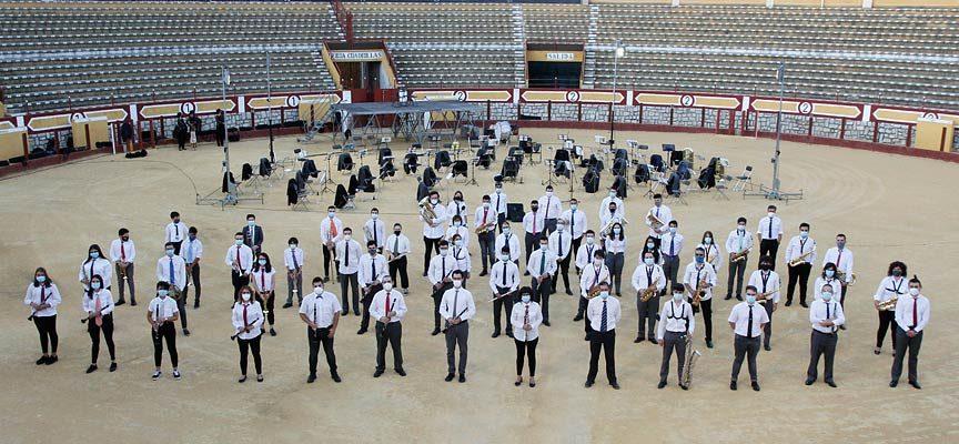 La Banda Municipal vuelve a actuar en la plaza de toros en un año sin `A por ellos´
